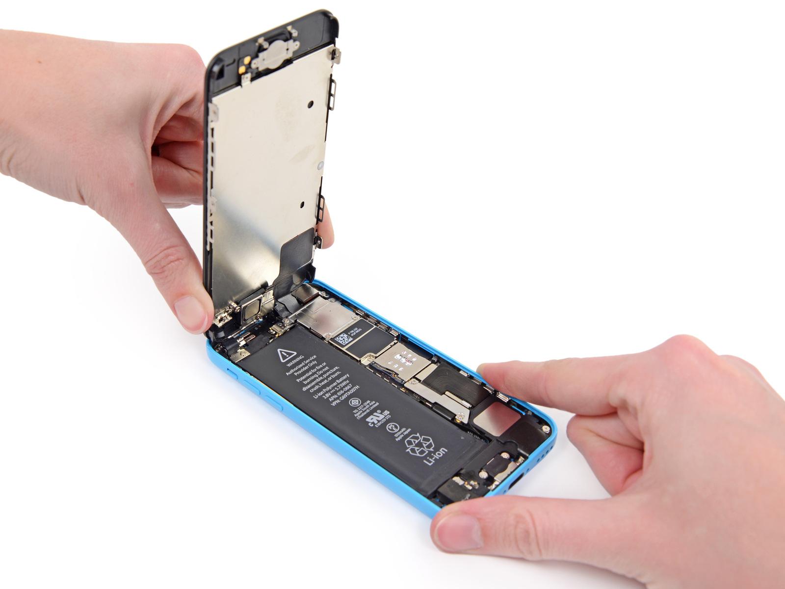 Замена модуля на айфон 5